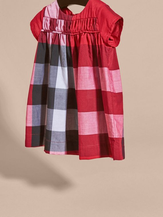 Parade red Check Cotton Dress Parade Red - cell image 2