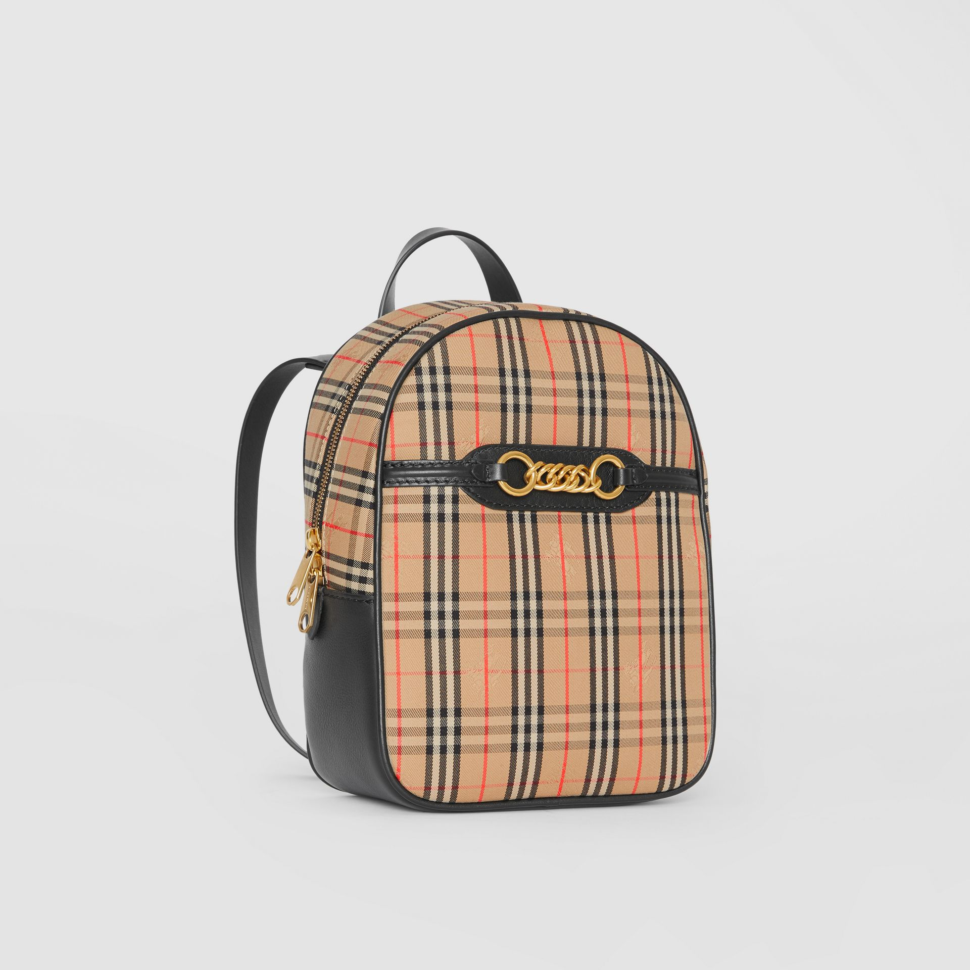 The 1983 Check Link Backpack in Black - Women | Burberry Australia - gallery image 6