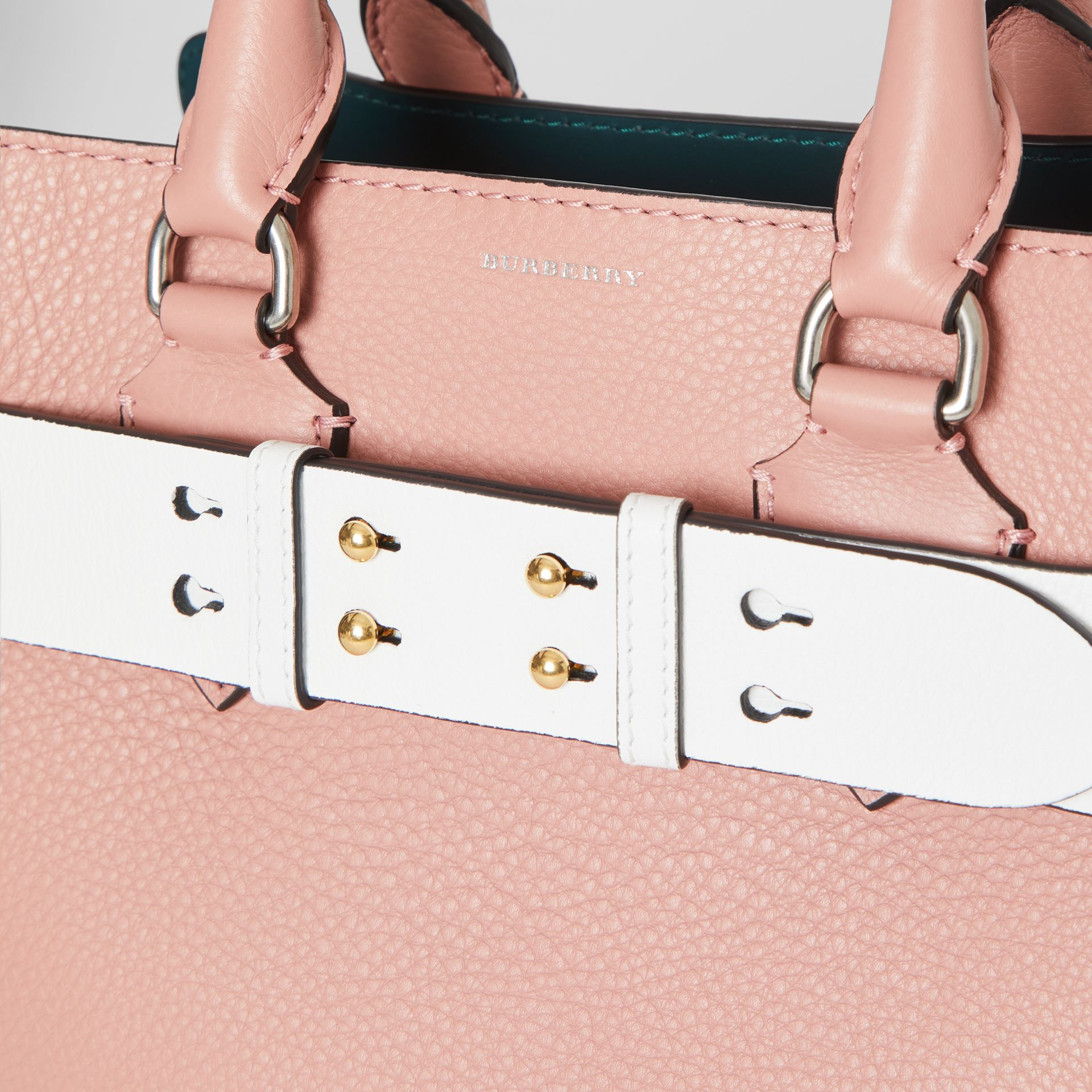 The Large Belt Bag Grainy Leather Belt in Chalk White - Women | Burberry Australia - gallery image 1