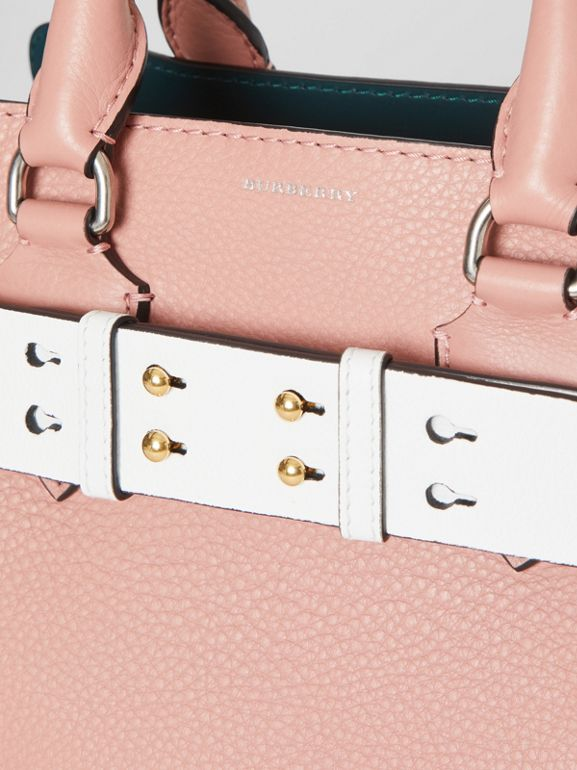 The Large Belt Bag Grainy Leather Belt in Chalk White - Women | Burberry - cell image 1