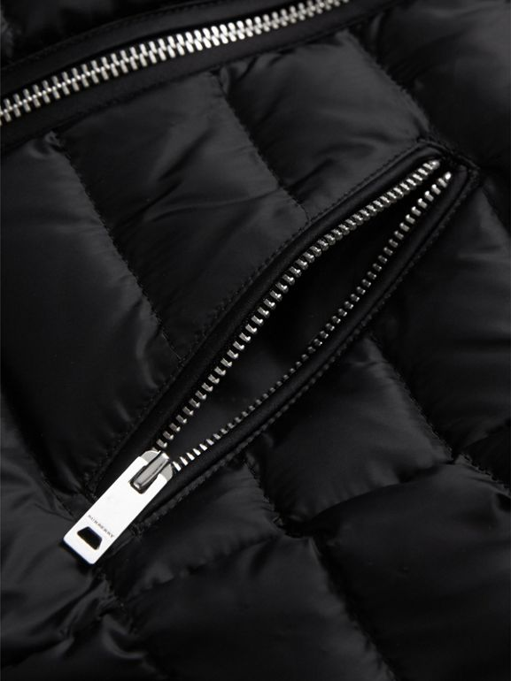 Quilted Down-filled Coat in Black | Burberry - cell image 1