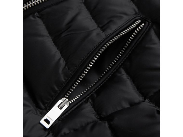 Quilted Down-filled Coat in Black - Girl | Burberry Australia - cell image 1