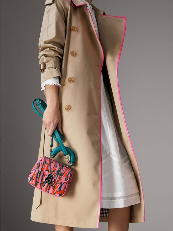 The Mini DK88 Splash Top Handle Bag in Rose Pink - Women | Burberry - cell image 3