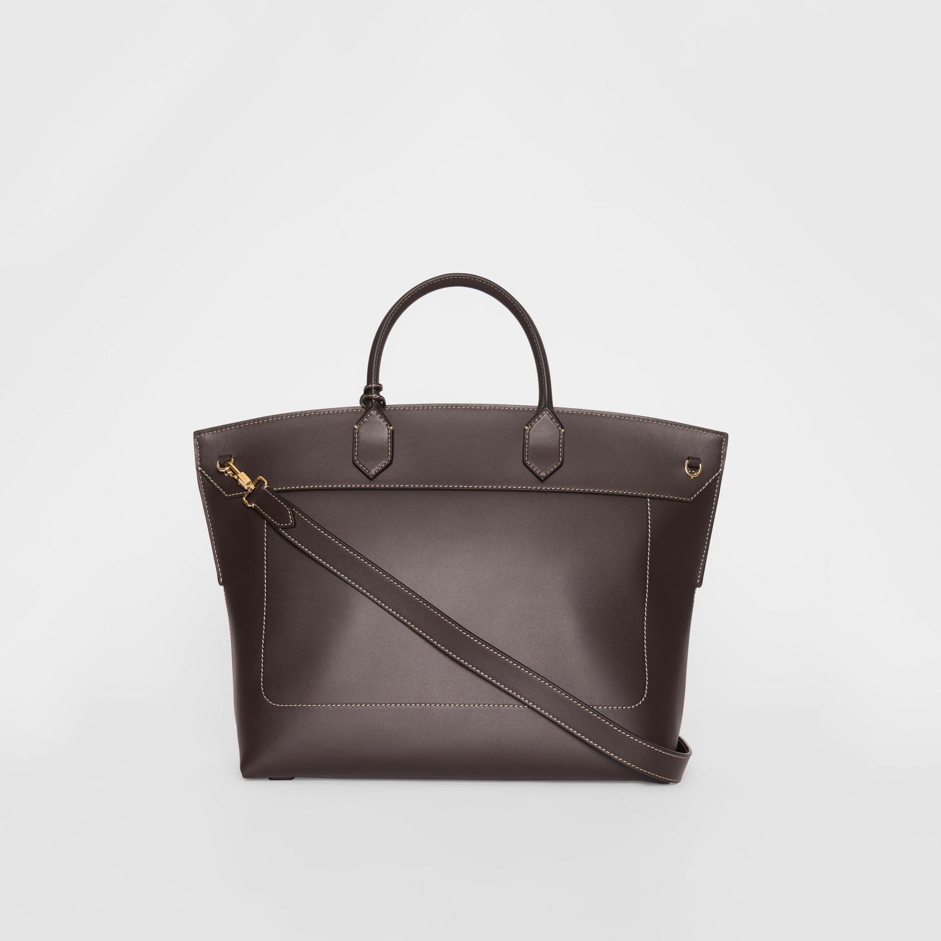 Leather Society Top Handle Bag in Coffee - Women | Burberry United States - gallery image 7