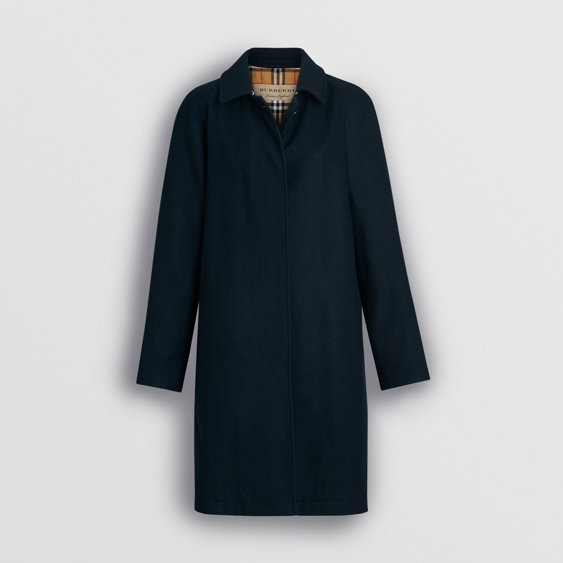 Cashmere Car Coat in Navy - Women | Burberry - gallery image 3