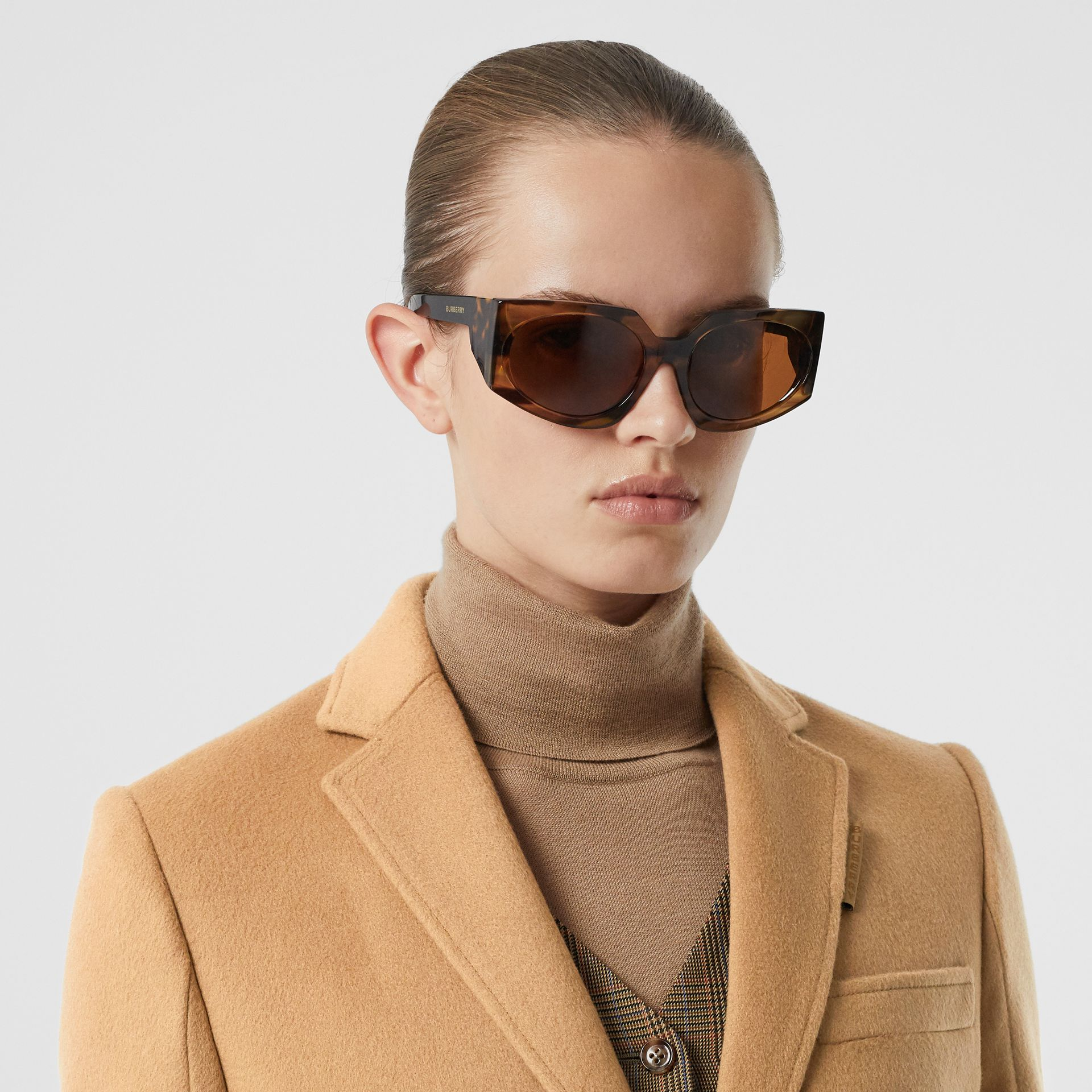 Wool Cashmere Tailored Coat in Light Camel - Women | Burberry United Kingdom - gallery image 1