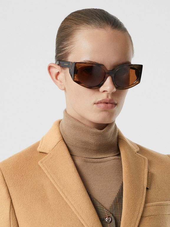 Wool Cashmere Tailored Coat in Light Camel - Women | Burberry United Kingdom - cell image 1