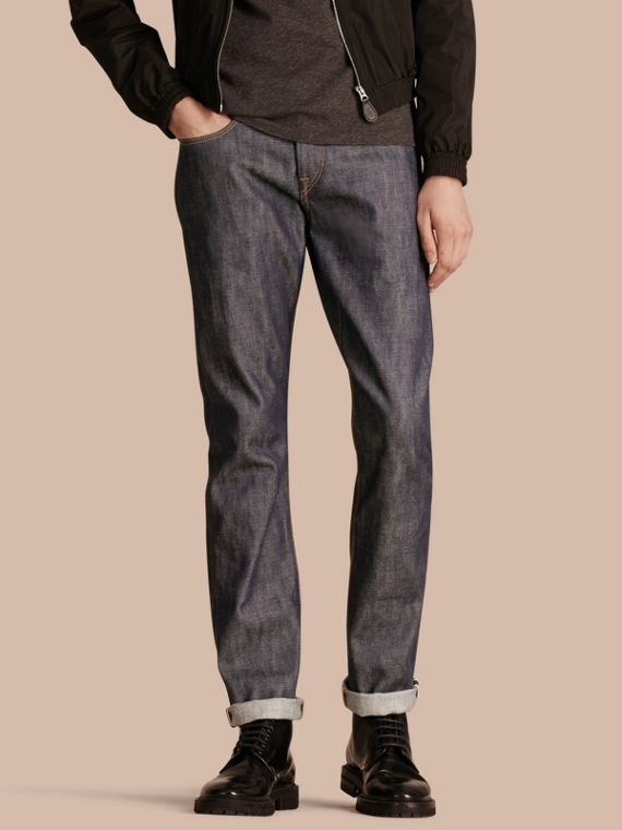 Straight Fit Deep Indigo Jeans