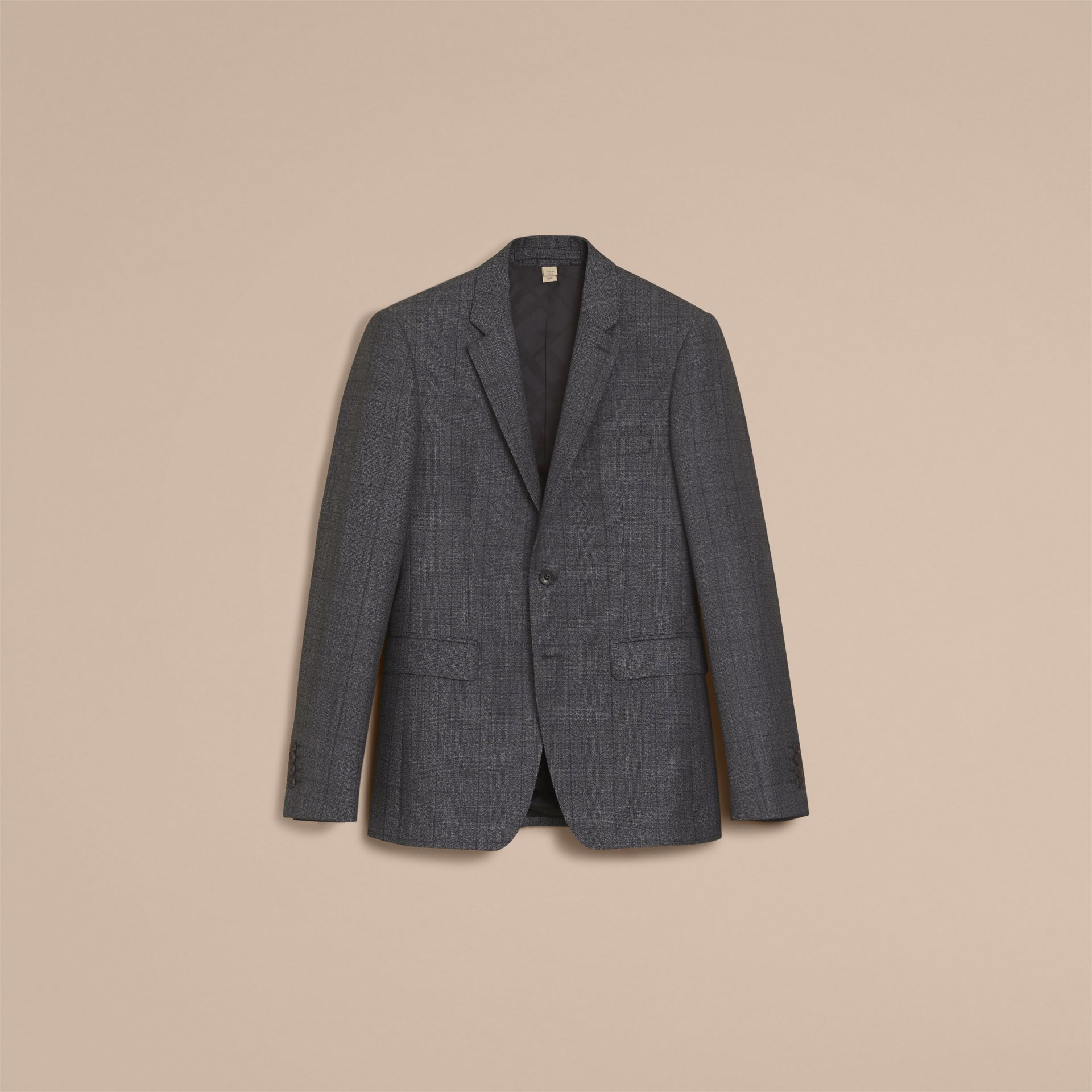 Slim Fit Check Half-canvas Wool Suit - gallery image 4