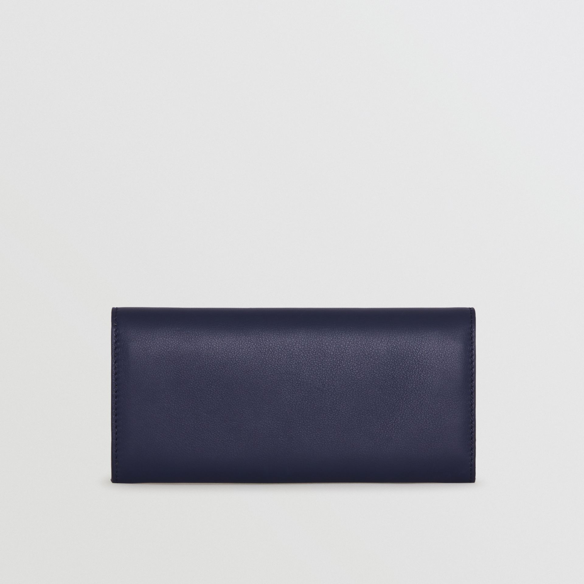 Embossed Crest Two-tone Leather Continental Wallet in Regency Blue - Women | Burberry Singapore - gallery image 4
