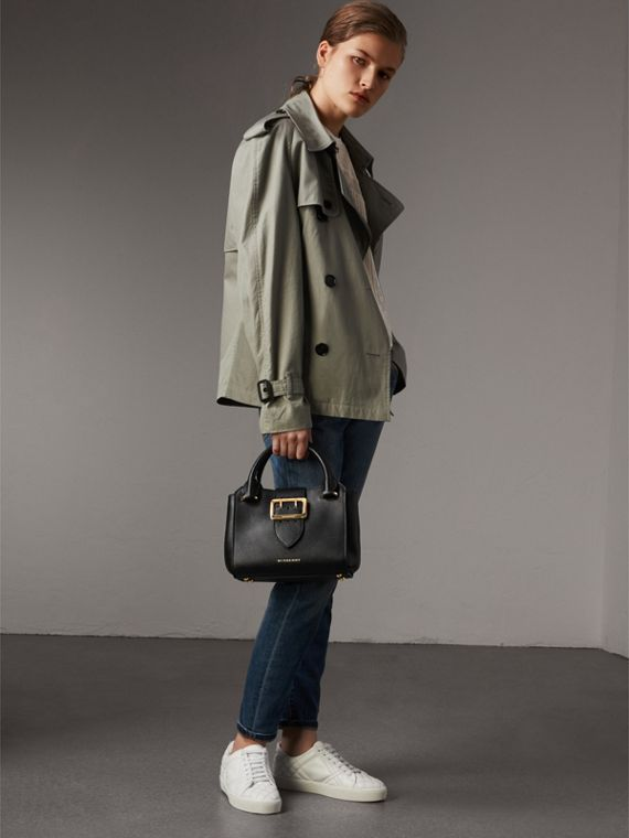 The Small Buckle Tote aus genarbtem Leder (Schwarz) - Damen | Burberry - cell image 2