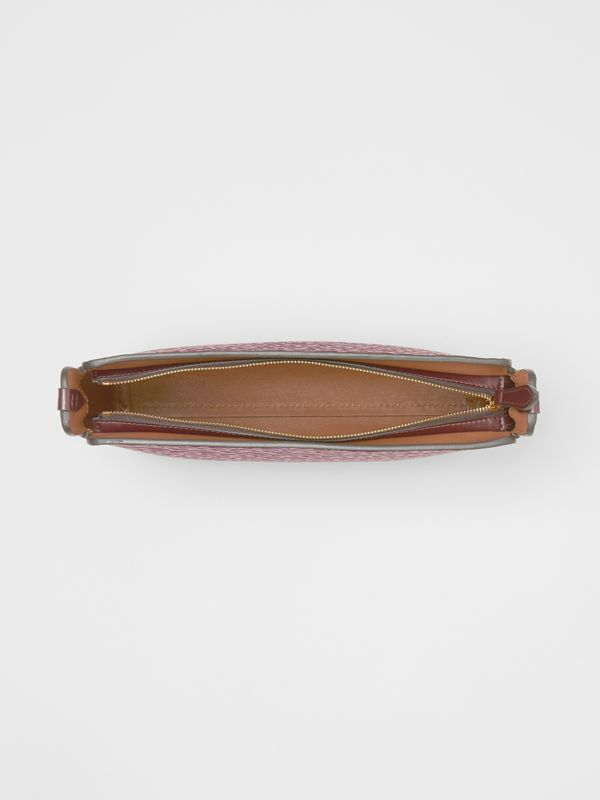 Medium Monogram Leather Clutch in Oxblood - Women | Burberry - cell image 2