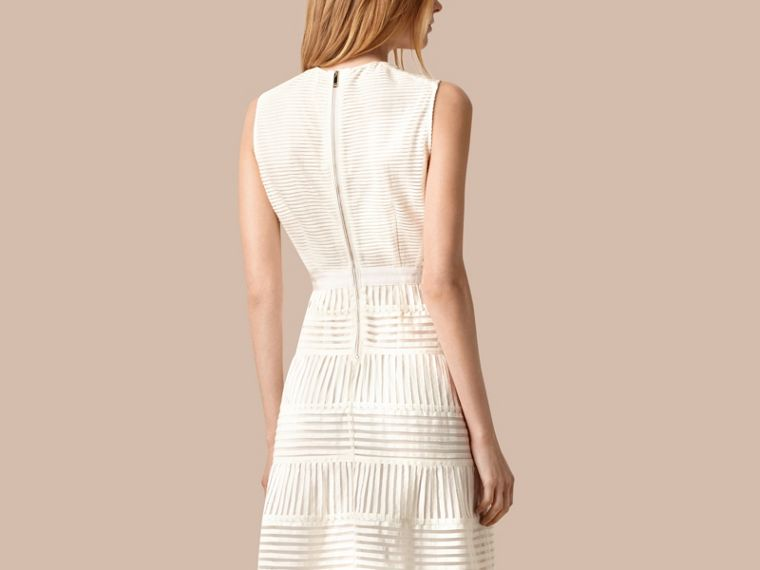 White Panelled Mesh Dress White - cell image 1