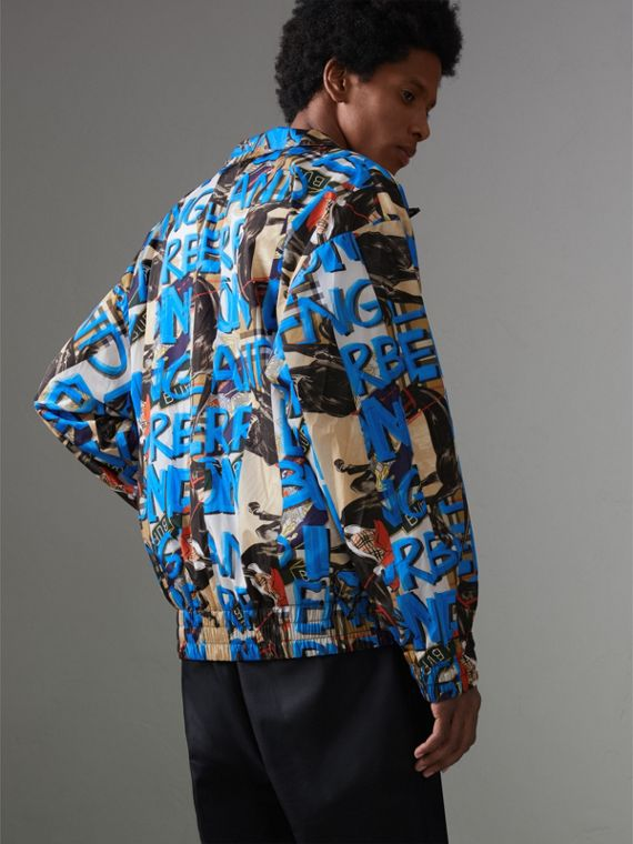Graffiti Archive Scarf Print Shell Jacket in Antique Yellow - Men | Burberry Hong Kong - cell image 2