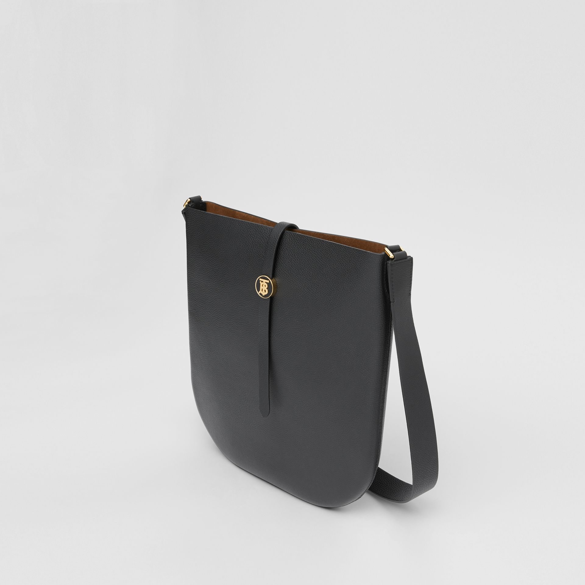 Grainy Leather Anne Bag in Black - Women | Burberry United States - gallery image 3