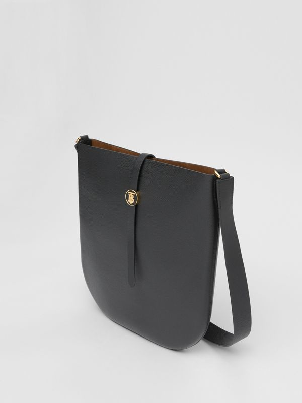 Grainy Leather Anne Bag in Black - Women | Burberry United States - cell image 3