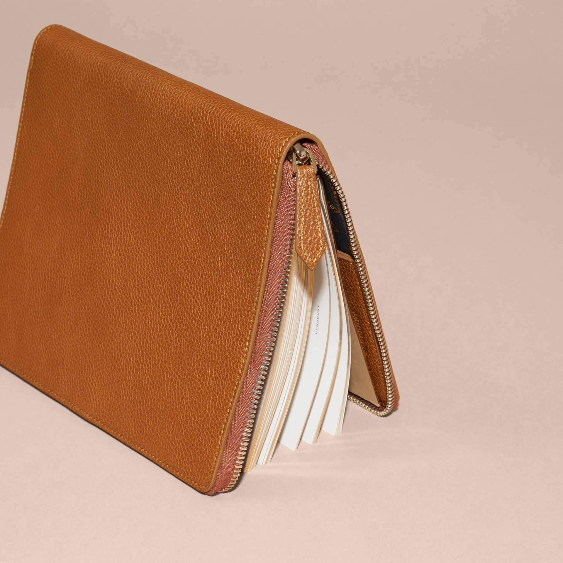 Light toffee Ziparound Grainy Leather A5 Notebook Light Toffee - gallery image 4