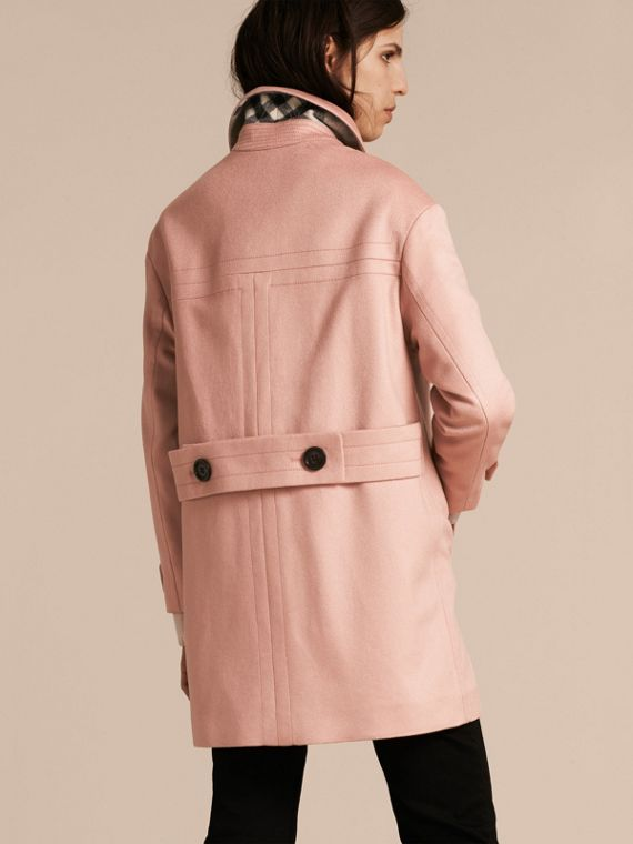 Chalk pink Cashmere Duffle Coat Chalk Pink - cell image 2