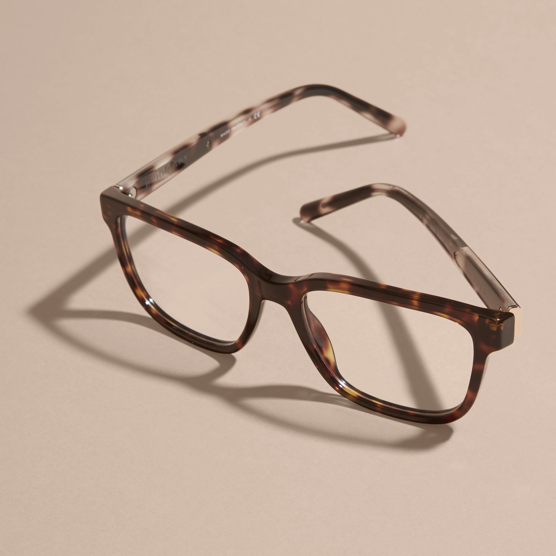 Check Detail Rectangular Optical Frames in Light Russet Brown - gallery image 5
