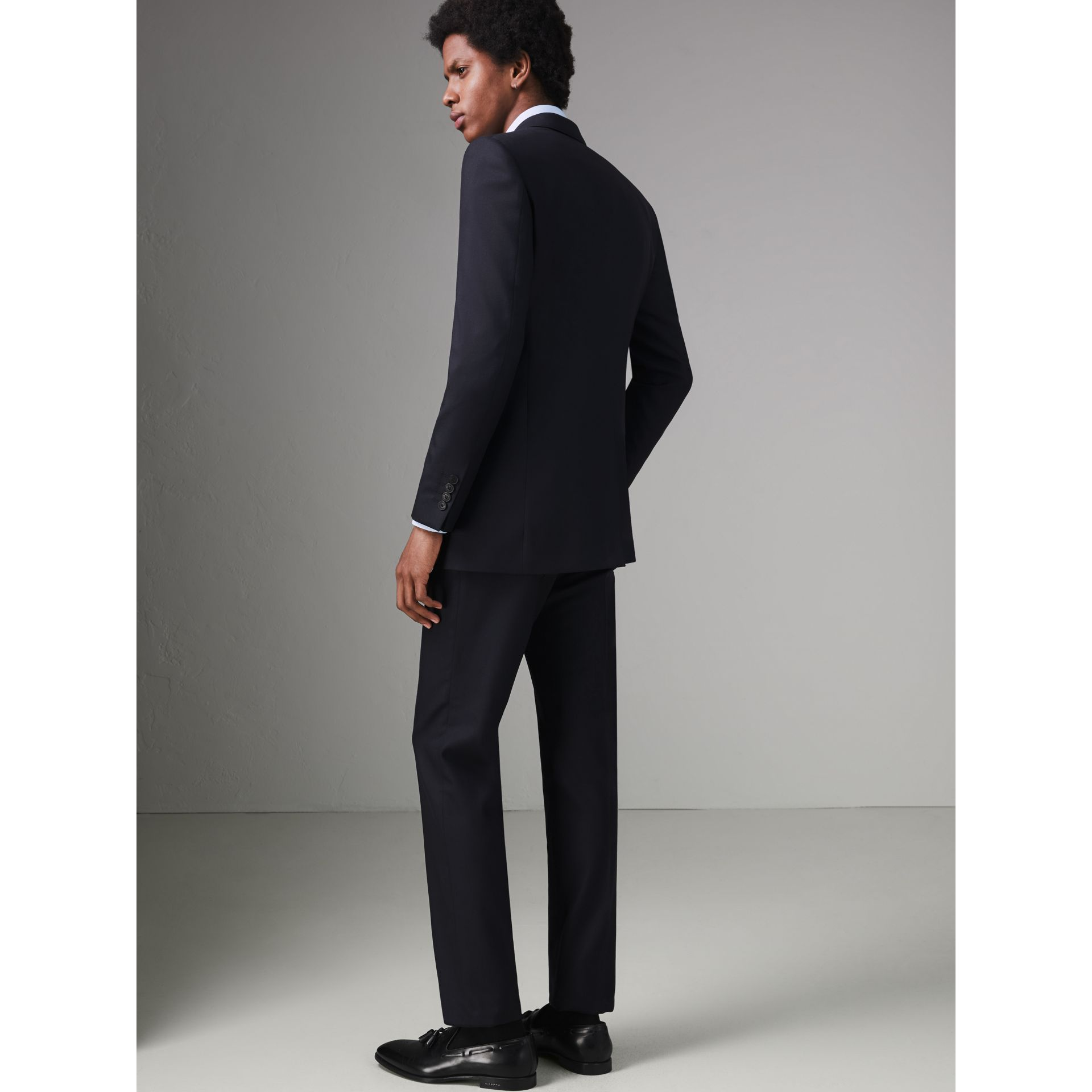 Modern Fit Wool Twill Suit in Navy - Men | Burberry - gallery image 2