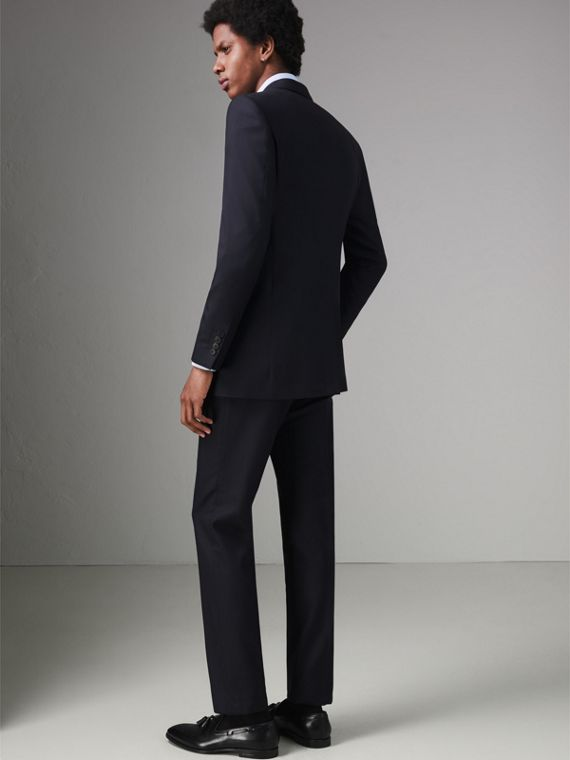 Modern Fit Wool Twill Suit in Navy - Men | Burberry - cell image 2