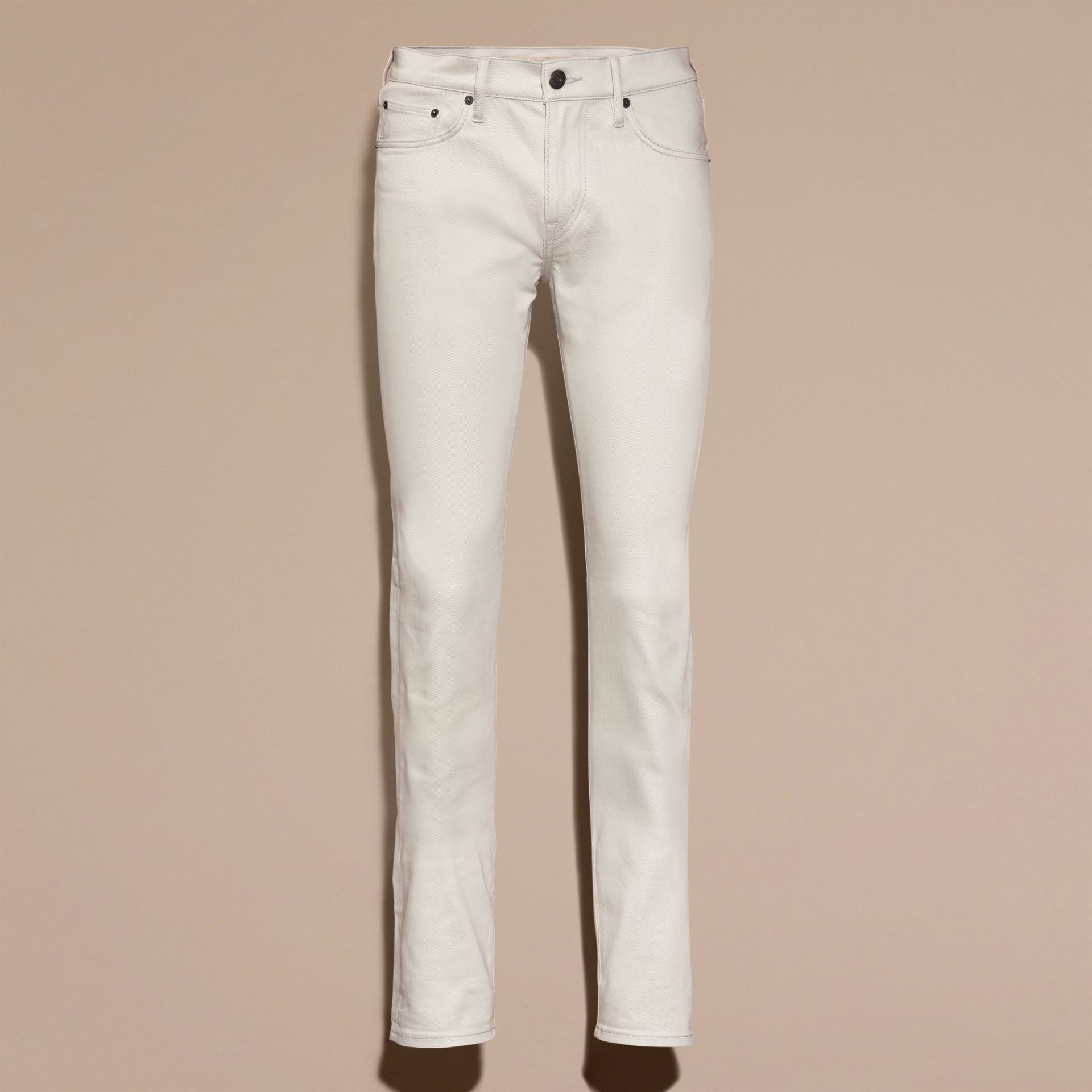 Pale stone Slim Fit Japanese Stretch Denim Jeans Pale Stone - gallery image 4