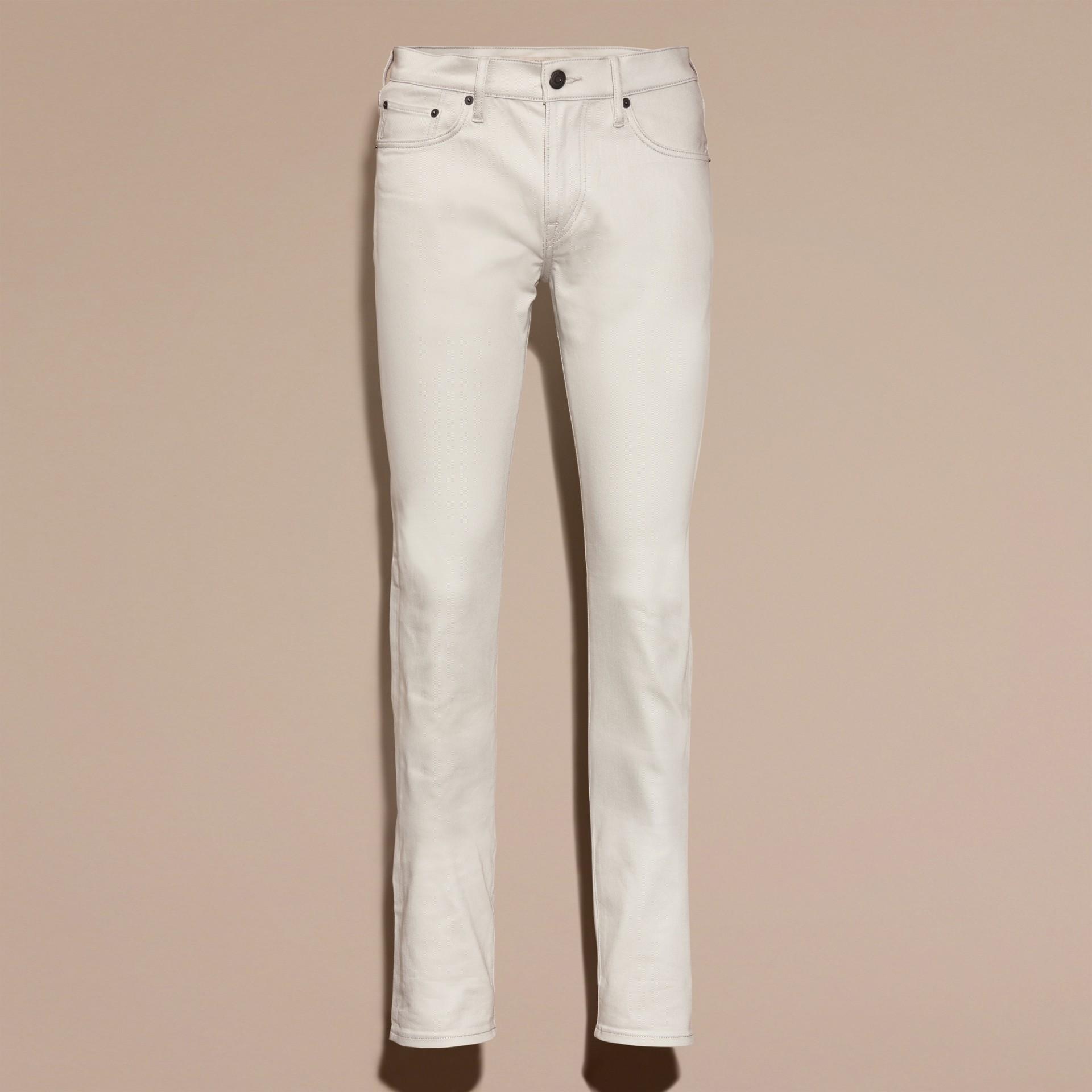 Pietra pallido Jeans aderenti in denim stretch giapponese Pietra Pallido - immagine della galleria 4