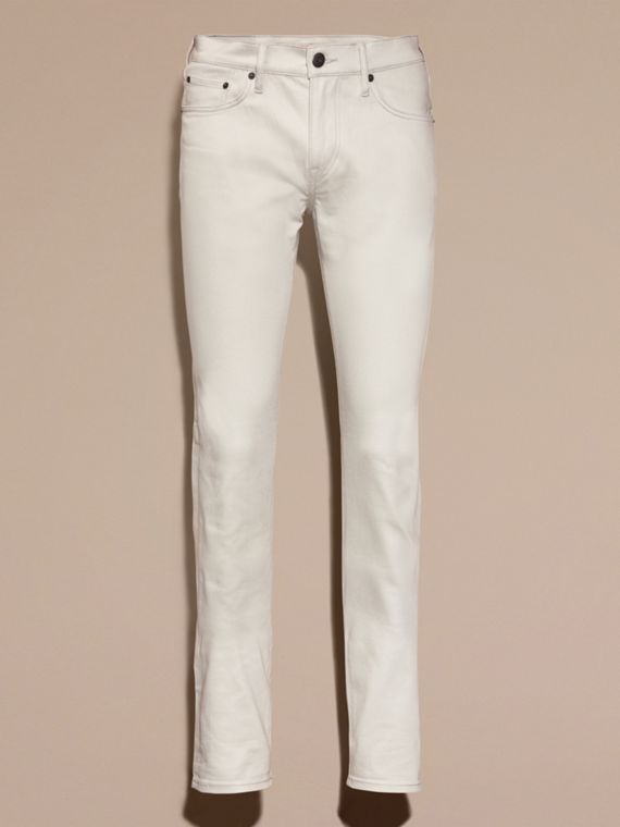 Pale stone Slim Fit Japanese Stretch Denim Jeans Pale Stone - cell image 3