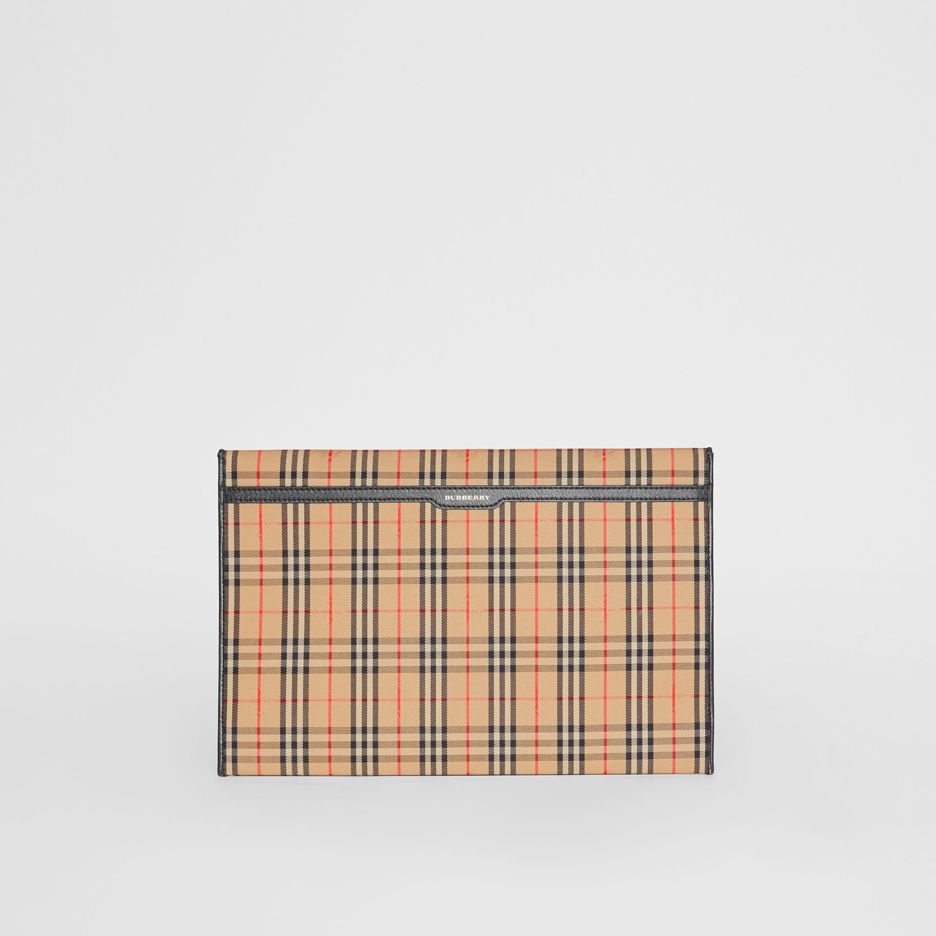 Large 1983 Check Envelope Pouch in Black - Women | Burberry - gallery image 5