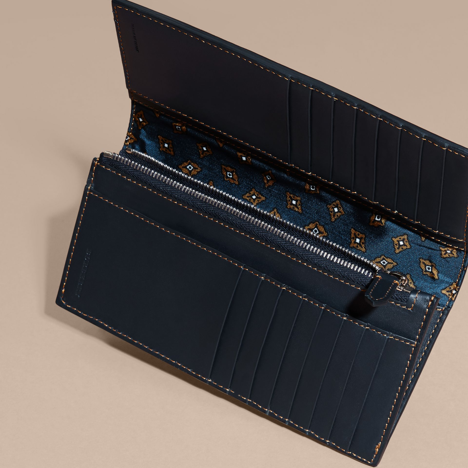 Dark navy Smooth Leather Continental Wallet Dark Navy - gallery image 5