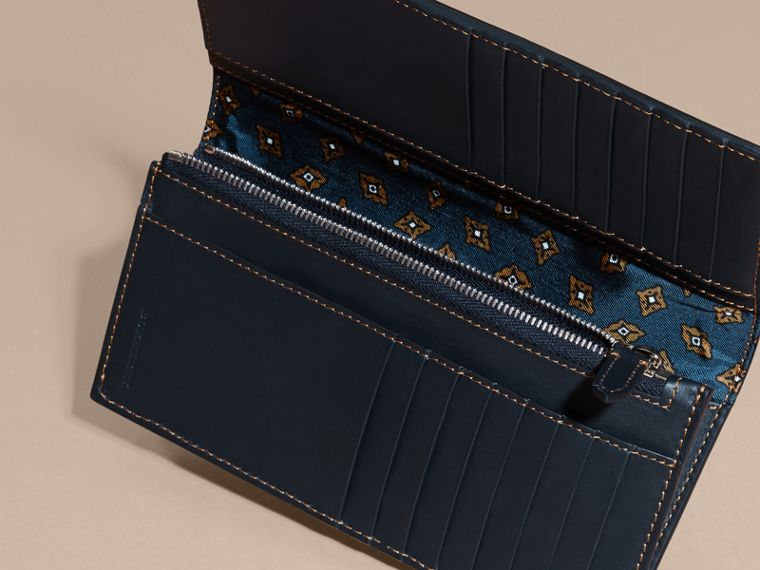 Dark navy Smooth Leather Continental Wallet Dark Navy - cell image 4