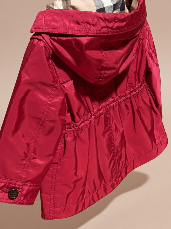 Dark plum pink Hooded Showerproof Packaway Jacket Dark Plum Pink - cell image 3