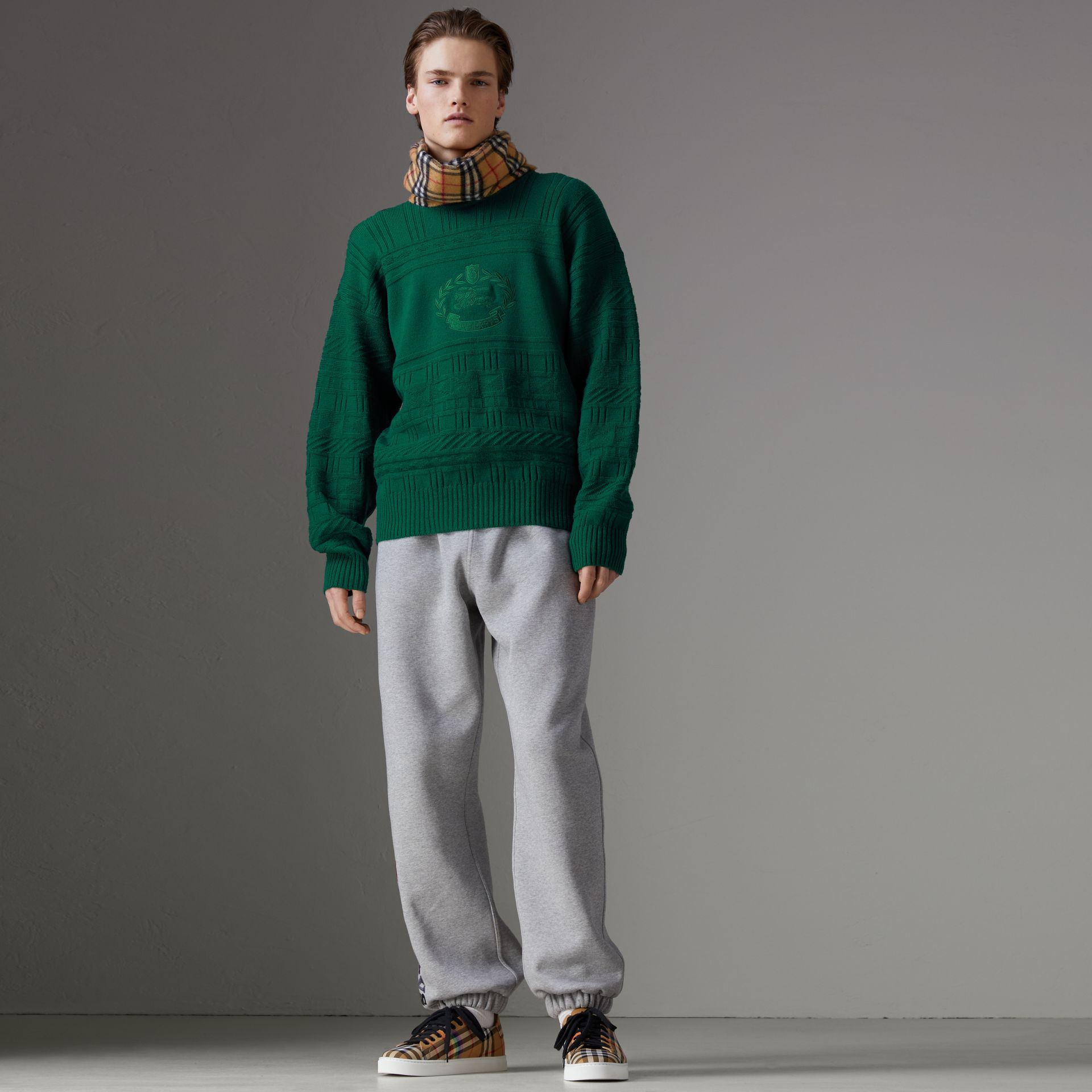 Reissued Wool Sweater in Dark Green - Men | Burberry United Kingdom - gallery image 0