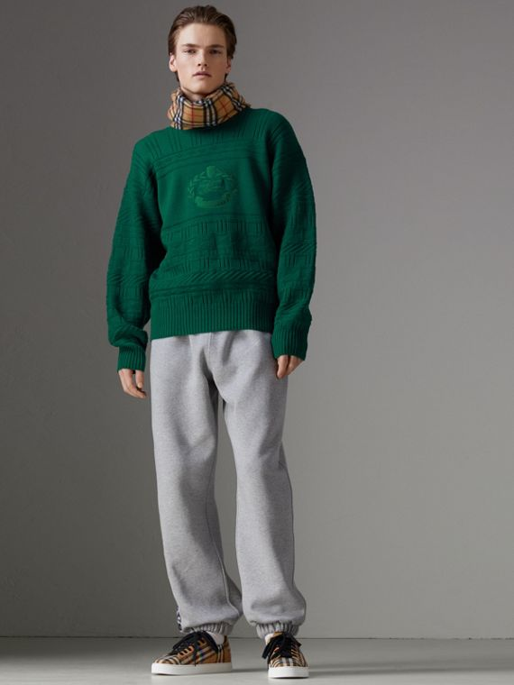 Reissued Wool Sweater in Dark Green