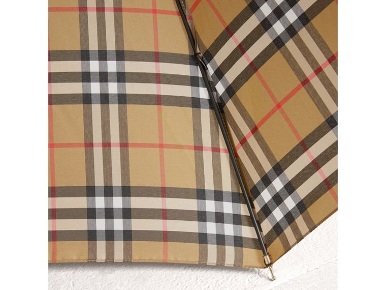 Vintage Check Walking Umbrella in Antique Yellow | Burberry Australia - cell image 2