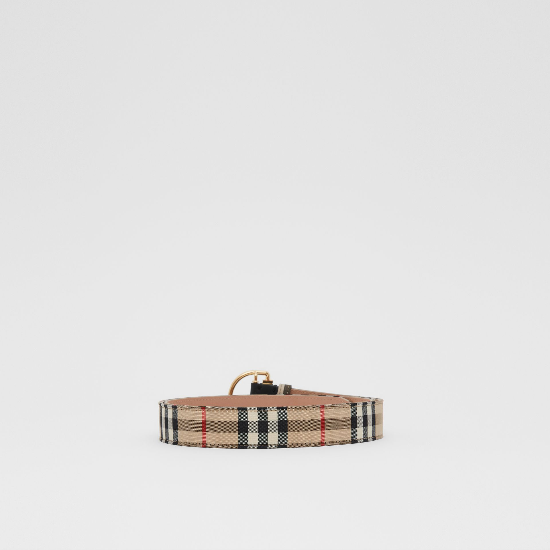 Vintage Check Cotton Blend D-ring Belt in Archive Beige - Women | Burberry - gallery image 3