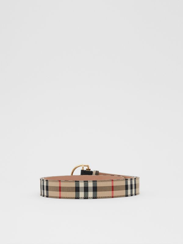 Vintage Check Cotton Blend D-ring Belt in Archive Beige - Women | Burberry - cell image 3