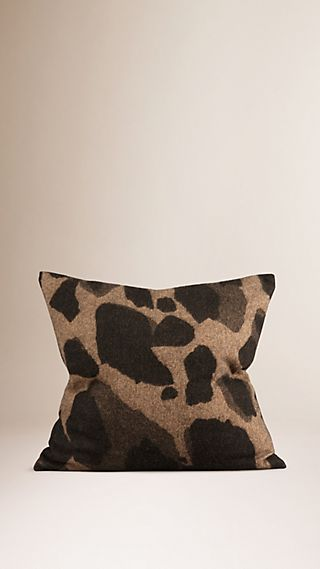 Animal Jacquard Cashmere Cushion Cover
