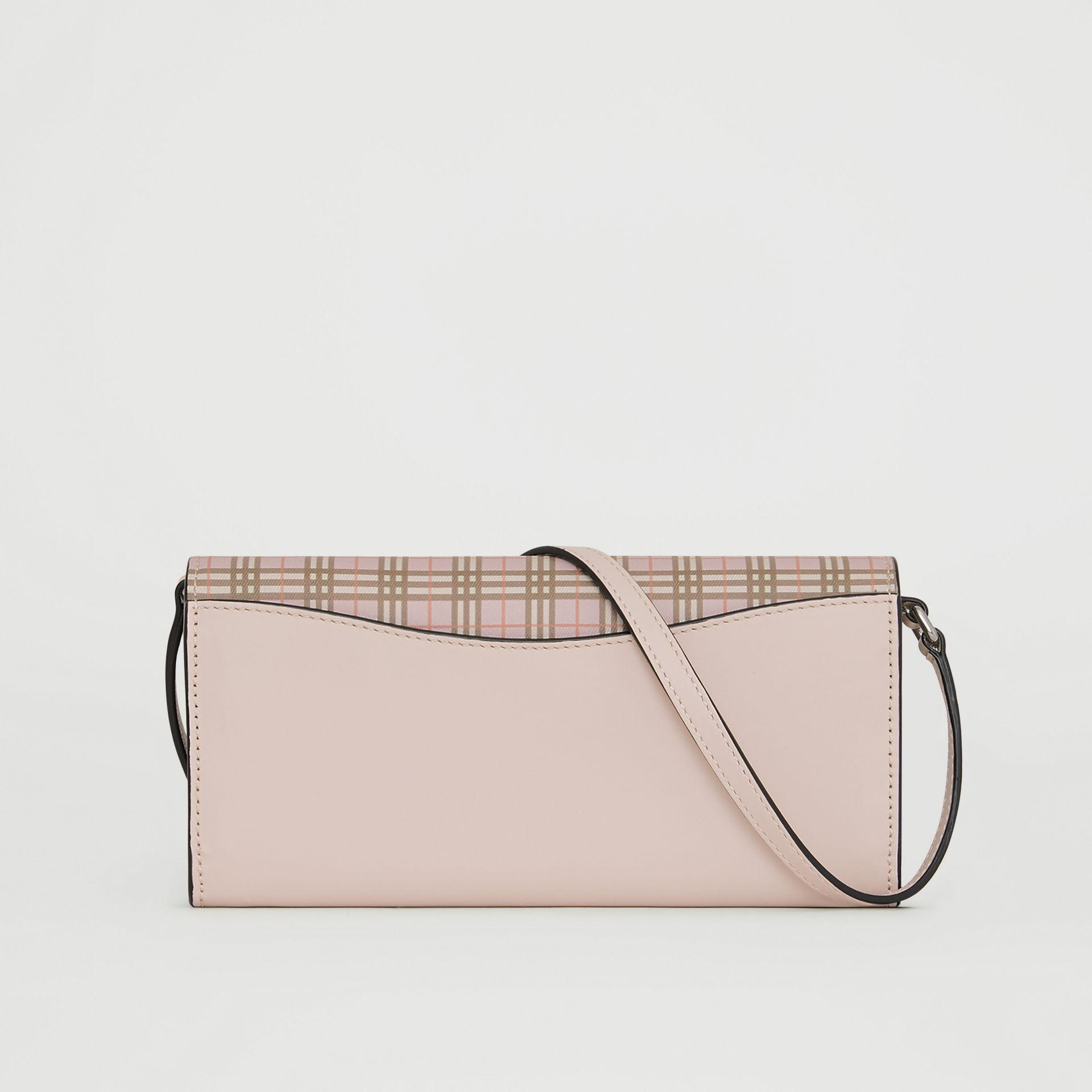 Portefeuille à micro-motif check avec sangle amovible (Rose Glacé) - Femme | Burberry - photo de la galerie 5