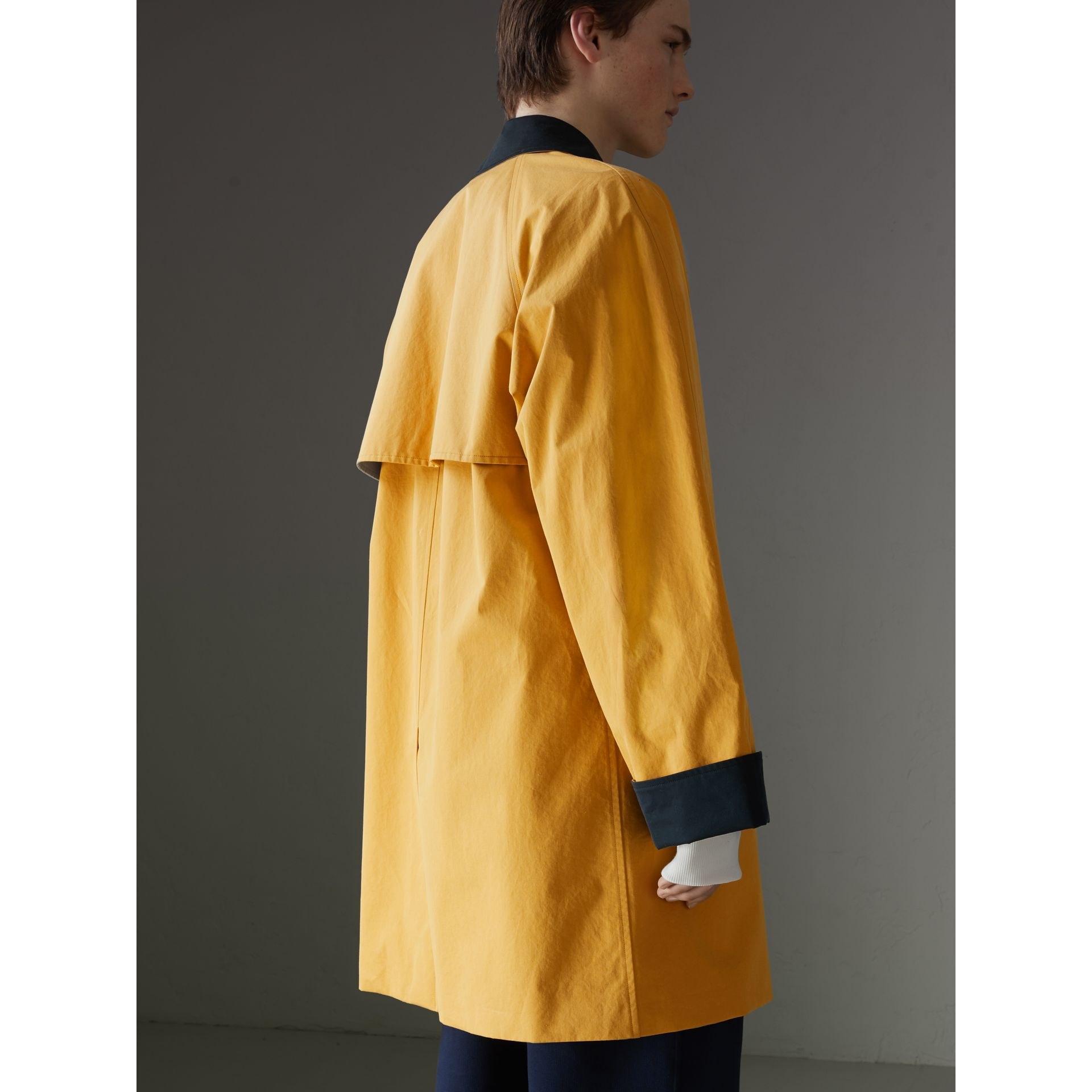Reissued Waxed Cotton Gabardine Car Coat in Yellow - Men | Burberry Canada - gallery image 2