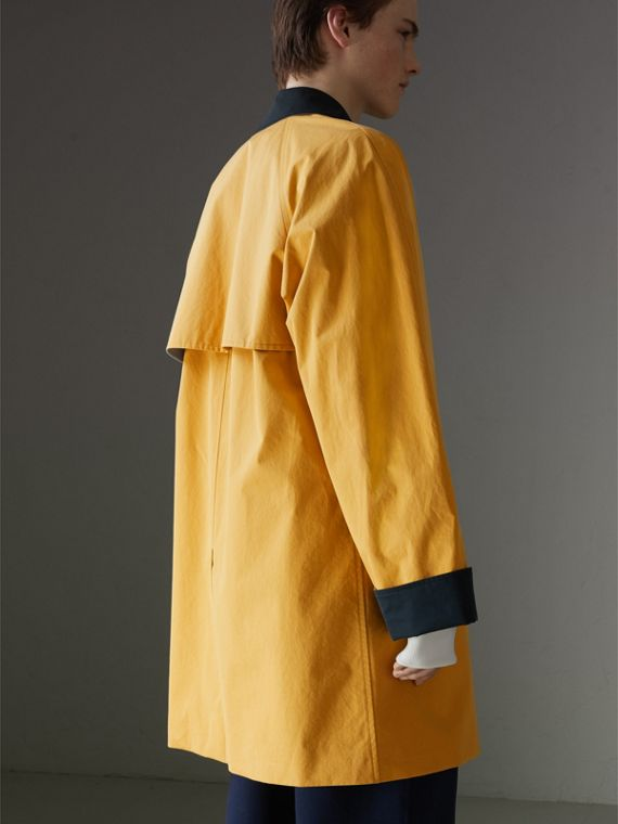 Reissued Waxed Cotton Gabardine Car Coat in Yellow - Men | Burberry - cell image 2