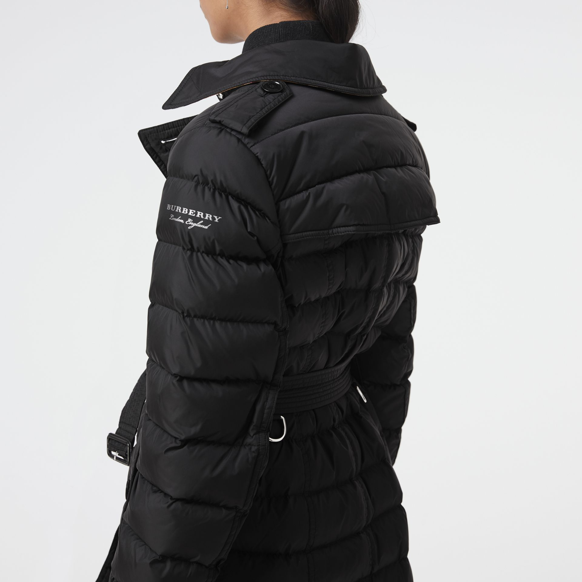Detachable Hood Down-filled Puffer Coat in Black - Women | Burberry Hong Kong - gallery image 1