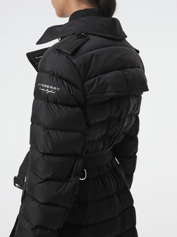 Detachable Hood Down-filled Puffer Coat in Black - Women | Burberry Hong Kong - cell image 1