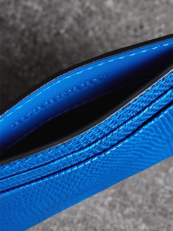 Lizard Card Case in Sapphire Blue | Burberry - cell image 3