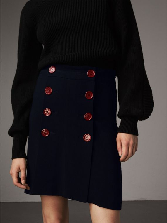 Resin Button Double-breasted Tailored Skirt - Women | Burberry Australia