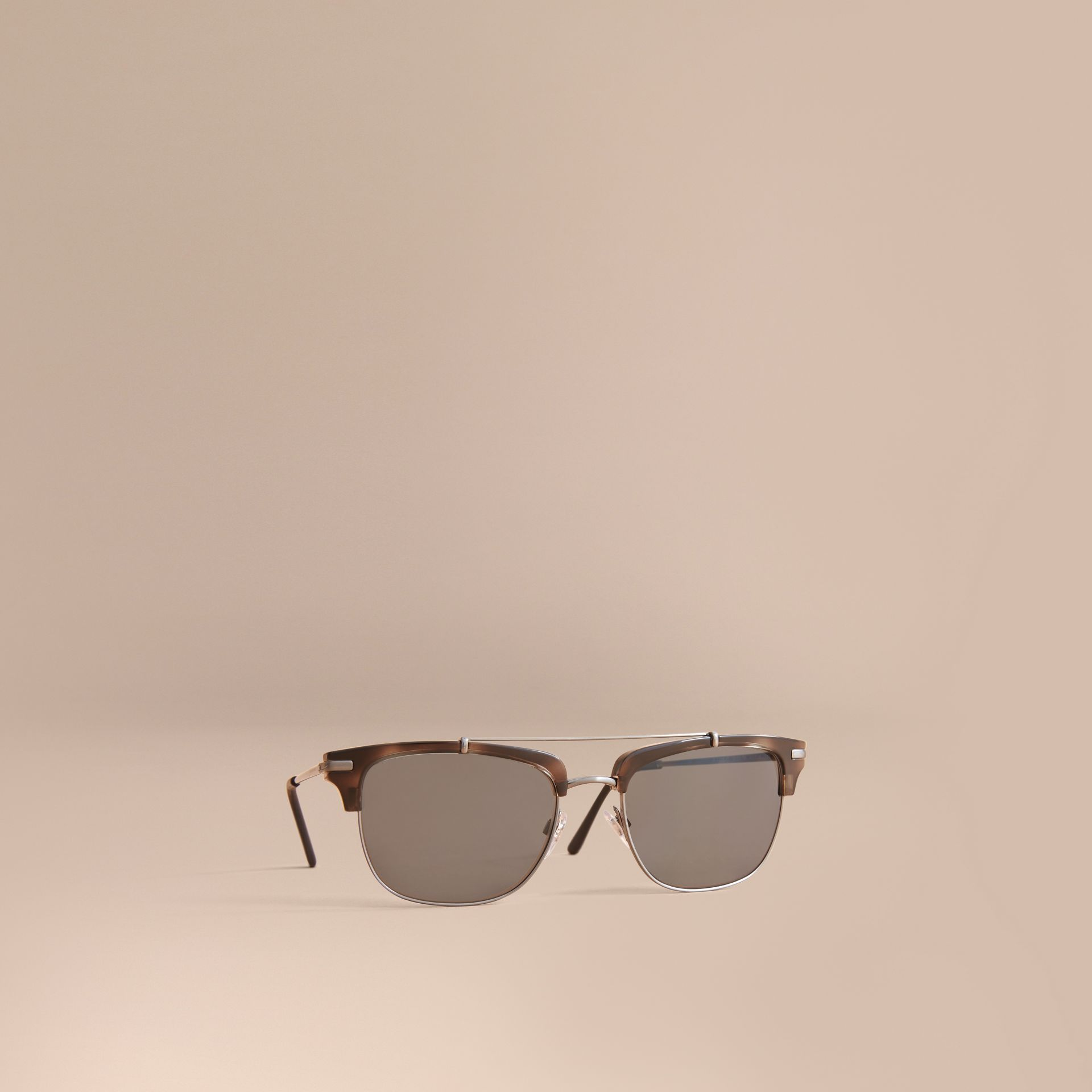 Square Frame Sunglasses in Grey - gallery image 1