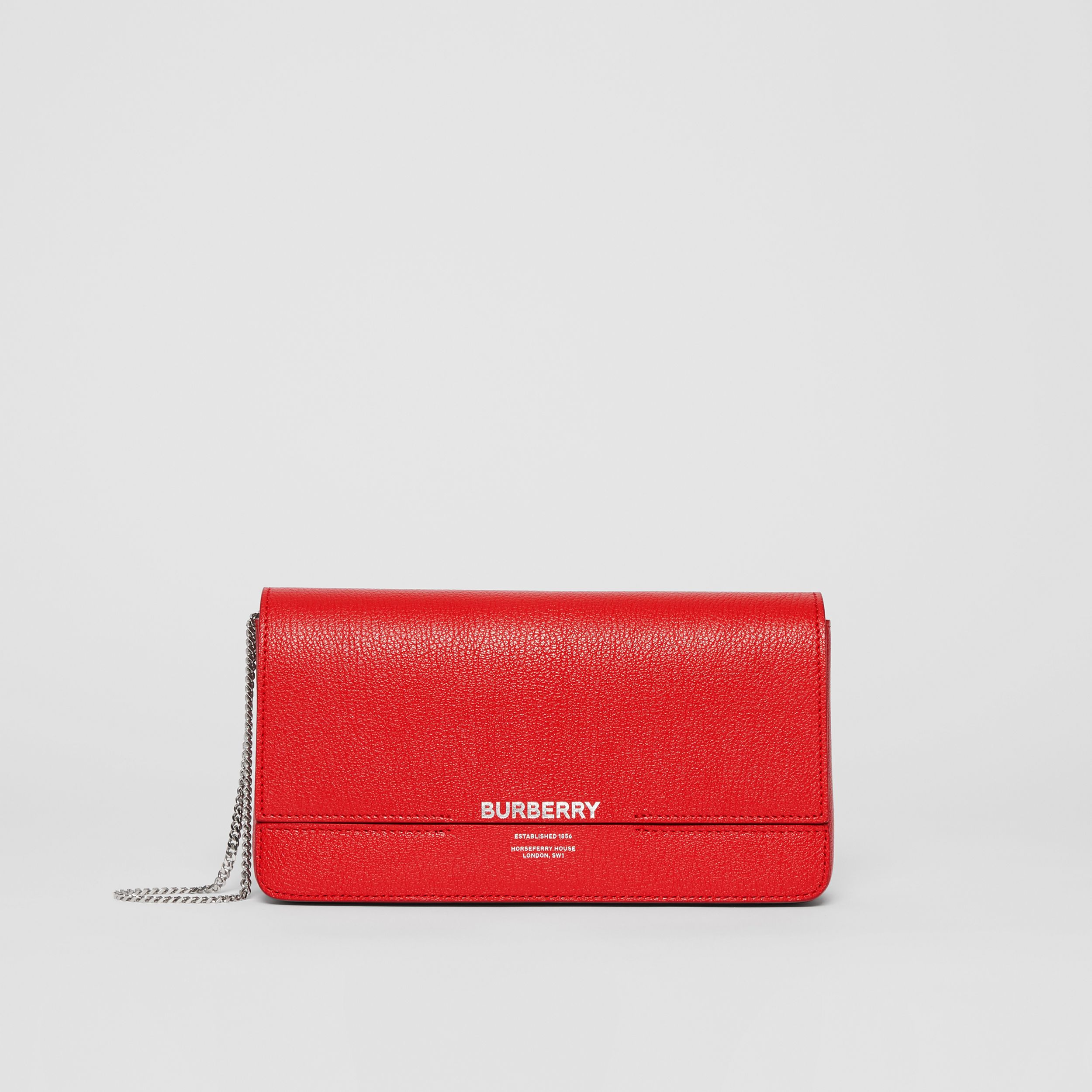 Leather Grace Clutch in Bright Military Red - Women | Burberry - 1