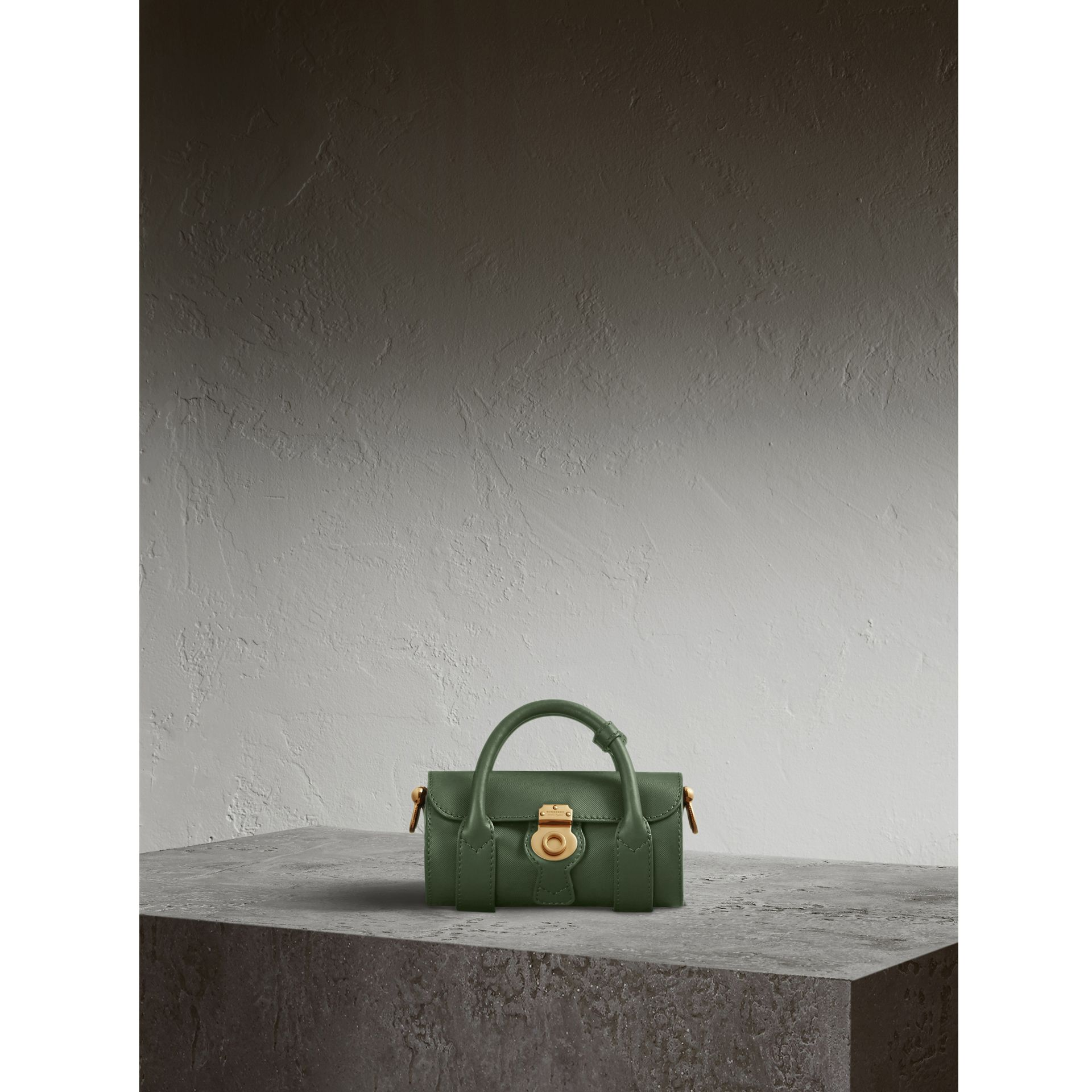 The Mini DK88 Barrel Bag in Dark Forest Green - Women | Burberry - gallery image 1
