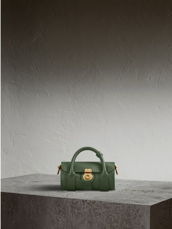 The Mini DK88 Barrel Bag in Dark Forest Green