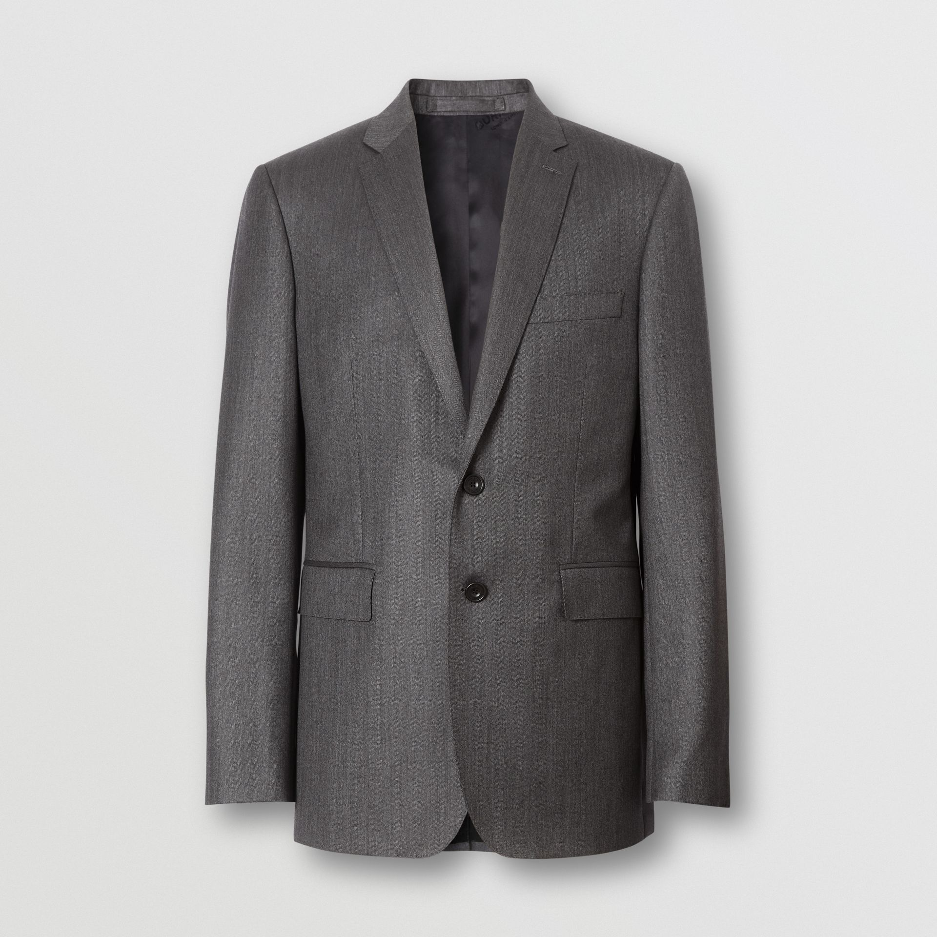 Slim Fit Herringbone Wool Suit in Mid Grey - Men | Burberry - gallery image 0